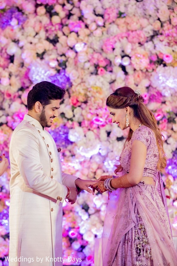 Indian groom and bride looking terrific