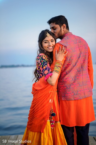 Adorable indian couple together capture.