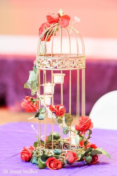Marvelous cage decoration for sangeet table decor.