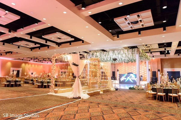 Marvelous Indian wedding reception stage.