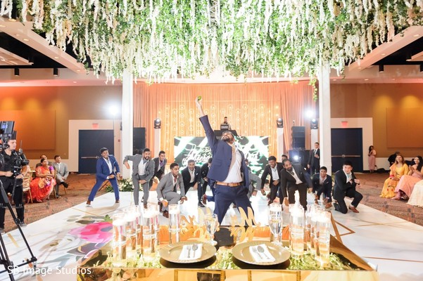 Incredible Indian groom's reception dance.