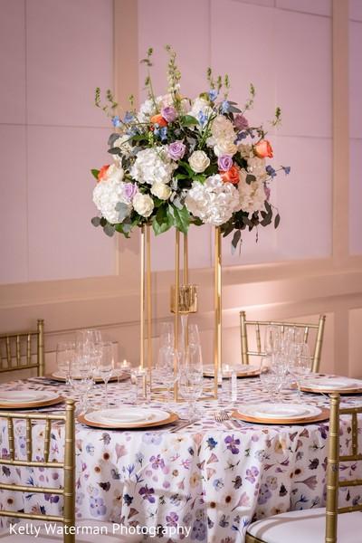 Stunning Indian wedding reception table decor.