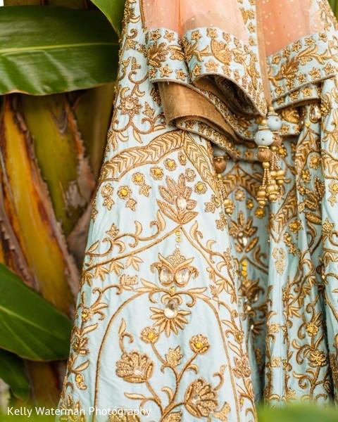 Maharani's incredible lehenga and ghoonghat embroidery.