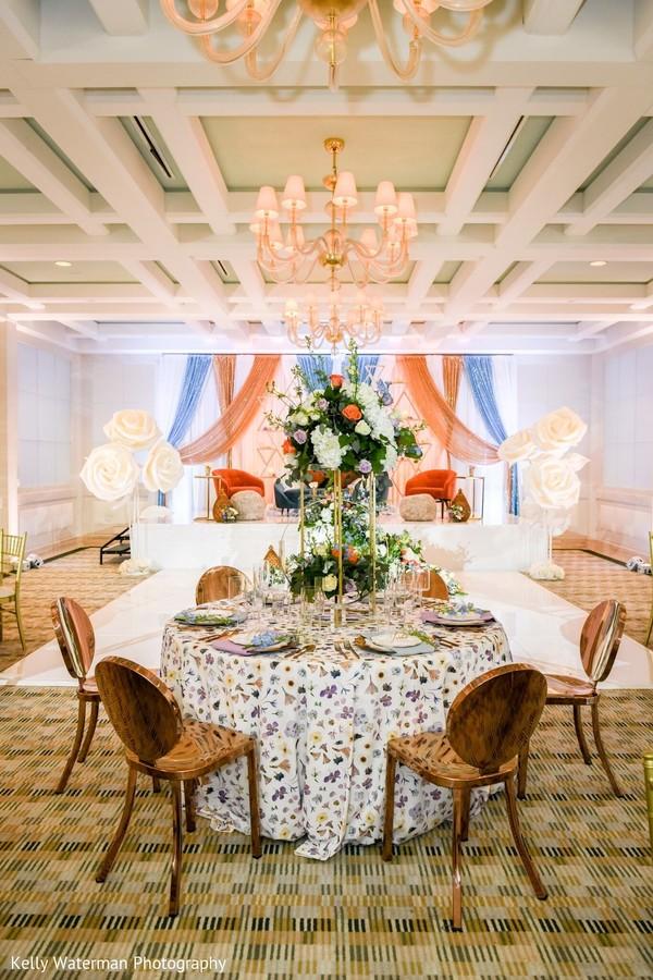 Marvelous Indian wedding table decor.