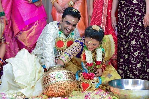 Joyful Indian pre-wedding ritual
