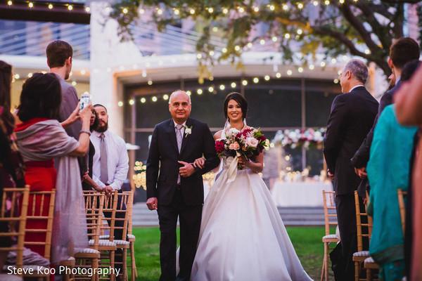 Bride making her entrance