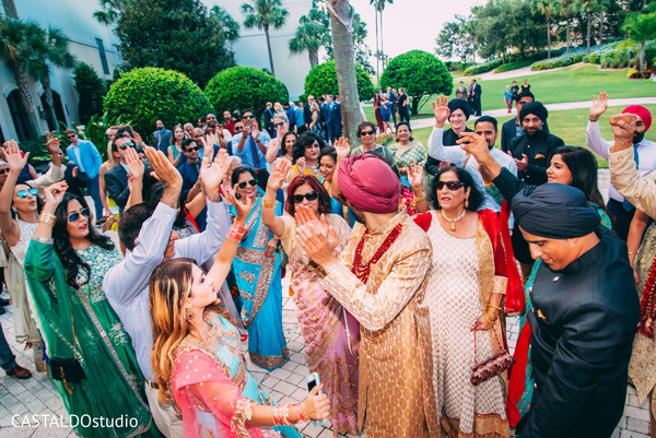 Upbeat indian pre-wedding baraat.