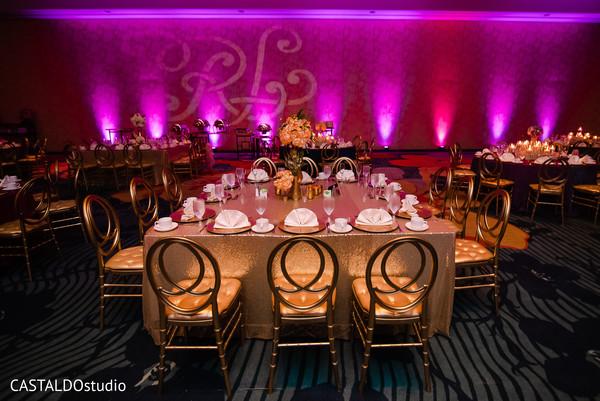 Creative indian wedding reception lights decor.