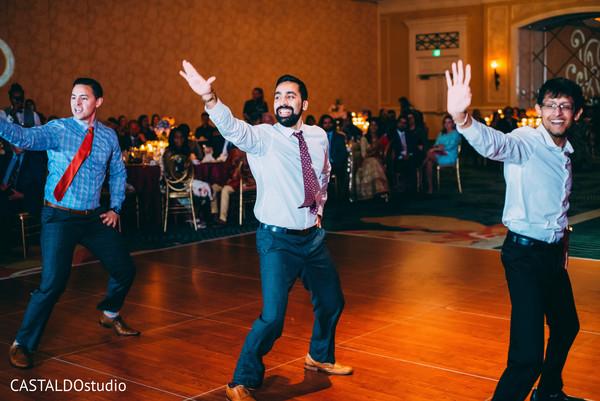 Indian groomsmen rocking the dance floor.
