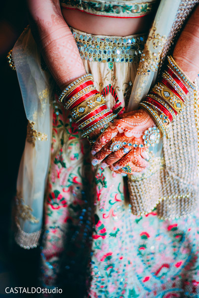 Incredible Indian bridal ceremony bracelets.