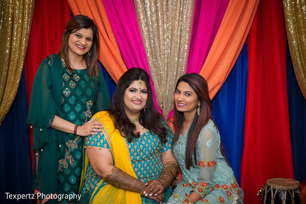 Indian bride with guests