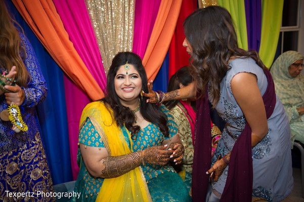 Indian bride with guest