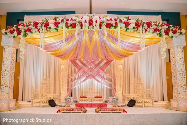 Details of the Indian wedding stage