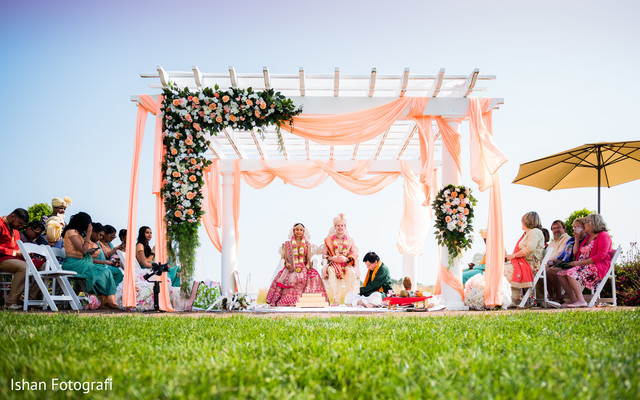 Indian couple under the mandap