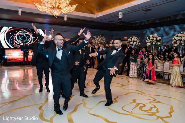 Incredible Indian groomsmen dance.