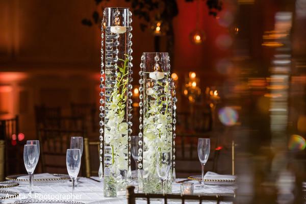 Incredibly elegant crystal table centerpiece decor.