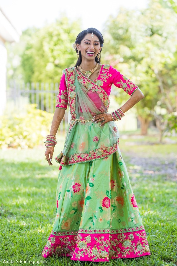 Lovely Indian bridal ceremony look.