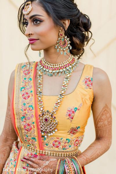 Stunning Indian bridal Sangeet fashion look.