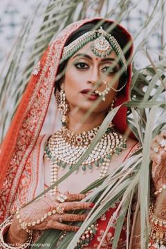 Dreamy Indian bride ceremony look.