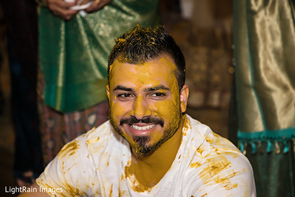 Indian Groom on Haldi Ceremony