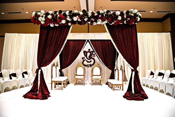 Dreamy indian wedding ceremony venue decor