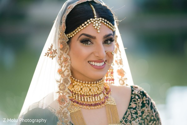 Gorgeous bride looking dazzling