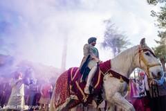 Indian groom during baraat