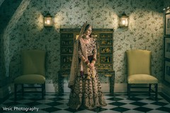 Magnificent Indian bridal ceremony look.