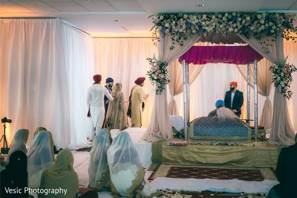 Traditional Indian wedding sikh ceremony.