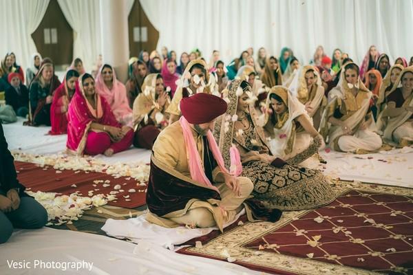 Indian wedding sikh ceremony celebration capture.