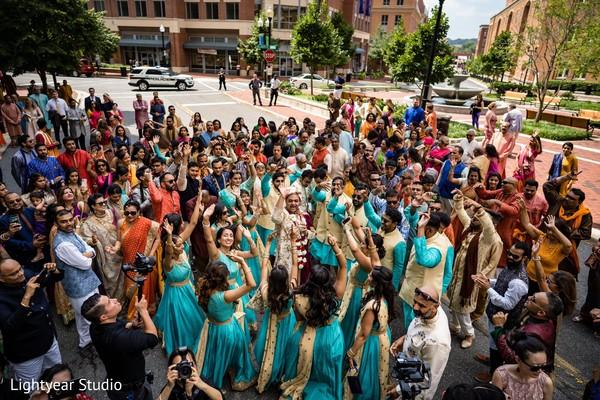 Indian wedding baraat capture