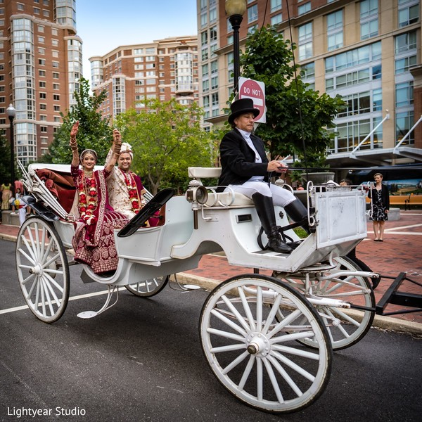 Indian wedding carriage.