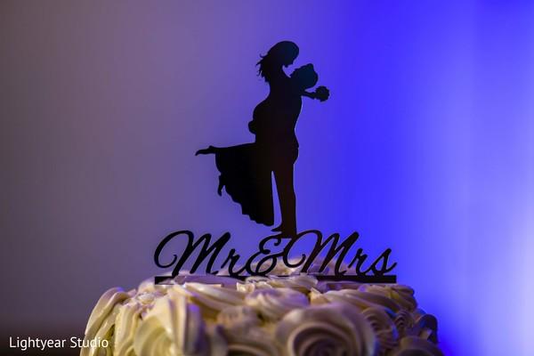 Romantic Indian wedding cake topper.