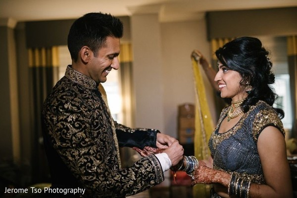 Maharani and Indian groom prior to the ceremony