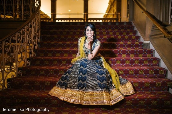Indian bride wearing the lengha