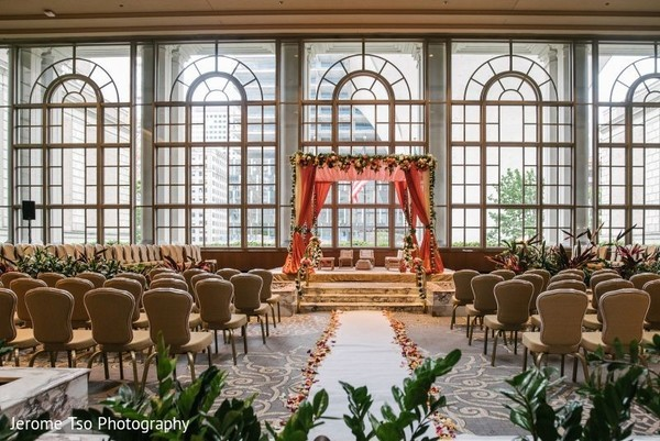 Gorgeous room ready for the ceremony