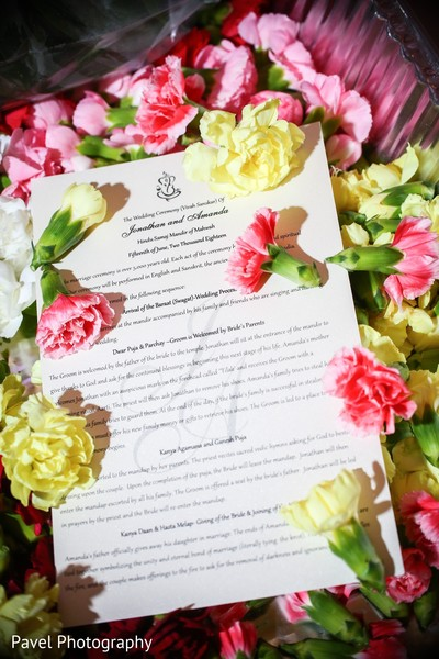 Dreamy Indian wedding ceremony guide print.
