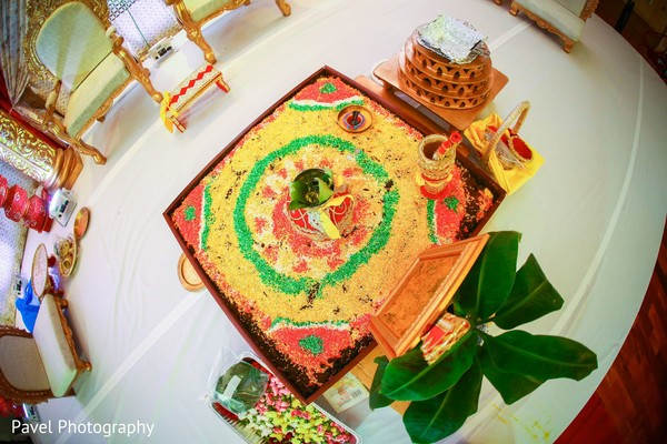 Impressive Indian wedding ceremony ritual items.