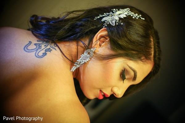Gorgeous indian bride portrait.