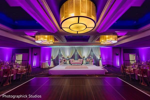 Stunning Indian wedding reception decoration.
