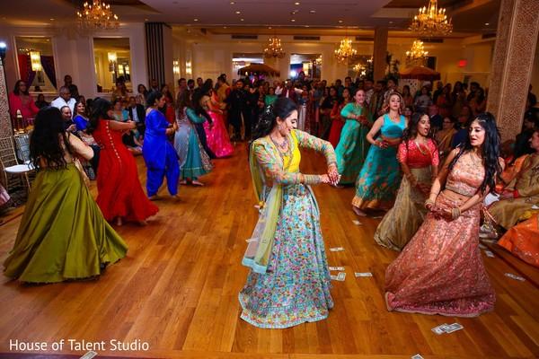 Ravishing indian bride's sangeet choreography.