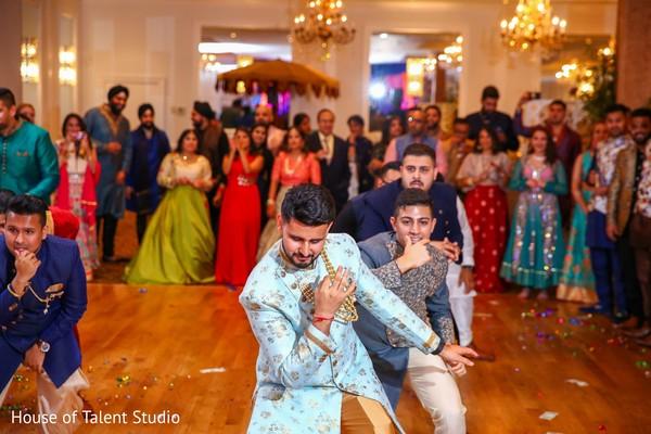 Incredible Indian groom and groomsmen Sangeet dance.