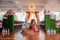 Incredible capture of Indian bride on her ceremony outfit.