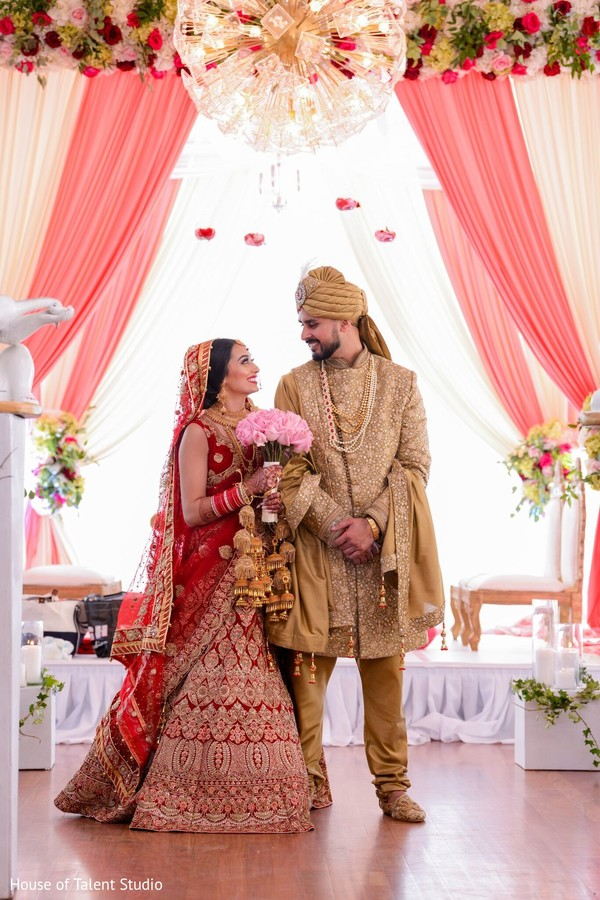 Sweet Indian lovebirds just married capture.