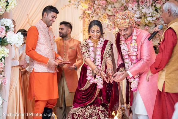 Memorable Indian wedding ceremony ritual.