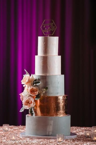 Elegant Indian wedding cake.