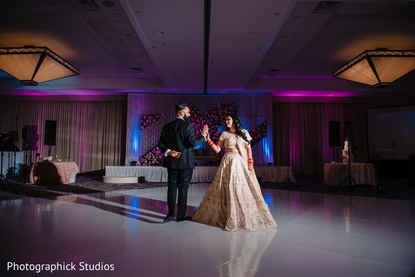 Lovely dance performed by Indian bride and Indian groom.