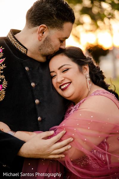 Romantic Indian wedding photo shoot style.