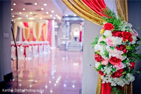 Magnificent Indian wedding ceremony flowers decorations.