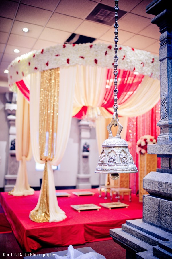 Incredible Indian wedding ceremony bell.